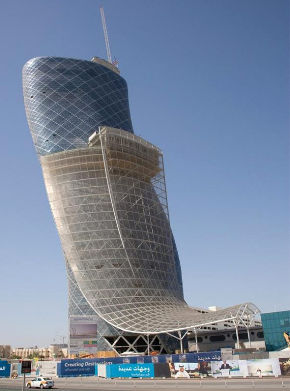 Capital Gate (RMJM Architects), Abu Dhabi. Image and original data provided by Art on File.