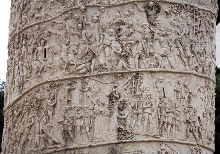 Imperial Forum – Trajan's Column, Built in 113 AD