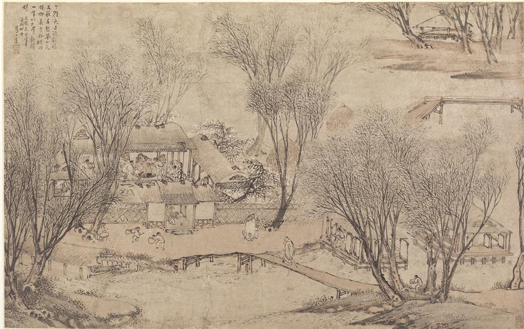 Li Shida, New Year's Day in a Village at Stone Lake, 1609