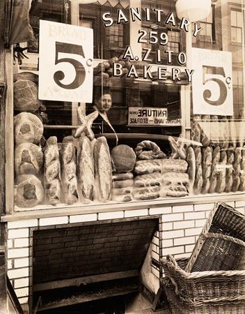 Berenice Abbott, Bread Store, 1937. Museum of the City of New York.