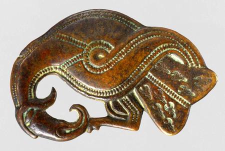 Brooch in shape of Bird, 500-600 AD. The Metropolitan Museum of Art