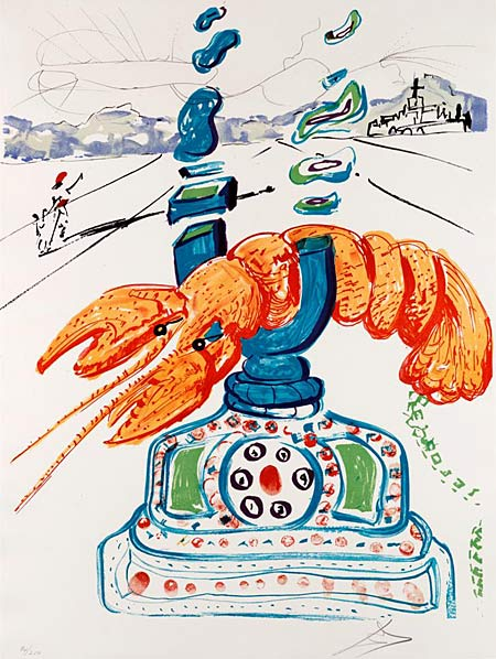 Salvador Dalí | Cybernetic Lobster Telephone from Imaginations and Objects of the Future | 1976 | Image © Dallas Museum of Art | © Salvador Dalí, Fundació Gala-Salvador Dalí, VEGAP, 2006