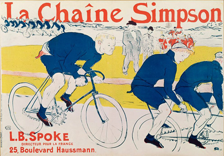 Henri de Toulouse-Lautrec | La Chaine Simpson (bicycle chains), 1896 | Image and original data provided by Erich Lessing Culture and Fine Arts Archives/ART RESOURCE, N.Y.; artres.com