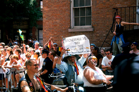 Larry Qualls | Heritage of Pride March, 30th Anniversary of the Stonewall Riots | 27 June, 1999 | New York City, NY | Image and original data provided by Larry Qualls