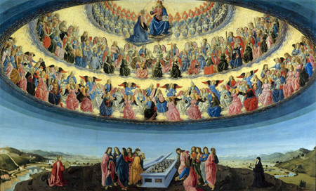 Francesco Botticini | The Assumption of the Virgin | probably about 1475-6| The National Gallery, London | Photograph: ©The National Gallery, London
