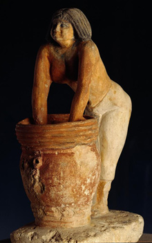Egyptian | Slave making beer from Giza | c. 2690-2130 BCE | Egyptian Museum of Cairo | Image and original data provided by SCALA, Florence/ART RESOURCE, N.Y. ; artres.com ; scalarchives.com | (c) 2006, SCALA, Florence / ART RESOURCE, N.Y.