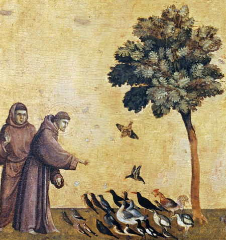 Giotto | Saint Francis Preaching to the Birds, predella of Saint Francis of Assisi Receiving the Stigmatta | c. 1295-1300 | Musée du Louvre | Image and original data provided by Réunion des Musées Nationaux / Art Resource, N.Y. ; artres.com