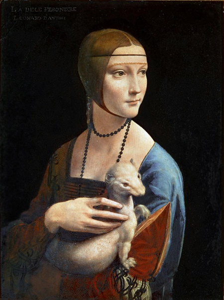 Leonardo da Vinci | Lady with an Ermine | c. 1490 | Czartorysky Museum | Image and original data provided by Erich Lessing Culture and Fine Arts Archives/ART RESOURCE, N.Y.; artres.com