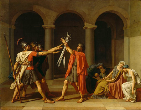 Jacques-Louis David | The Oath of the Horatii | 1784 | Musée du Louvre | Image and original data provided by Réunion des Musées Nationaux / Art Resource, N.Y.; artres.com