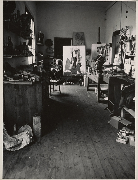 Caption: An interior of Picasso's studio, circa 1949–70, Alexander Liberman. The Getty Research Institute, Los Angeles, (2000.R.19). © J. Paul Getty Trust.