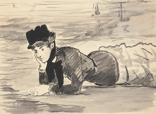 Édouard Manet | Woman Lying on the Beach. Annabel Lee | About 1881 | Statens Museum for Kunst