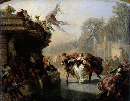 Henri Charles Antoine Baron | Ice Skaters | 1852 | Musée des Beaux-Arts de Lille | Réunion des Musées Nationaux (RMN)