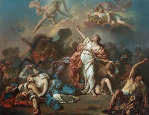 Jacques-Louis David, Apollo and Diana Attacking the Children of Niobe, 1772. Image © Dallas Museum of Art, Image and data from: Dallas Museum of Art