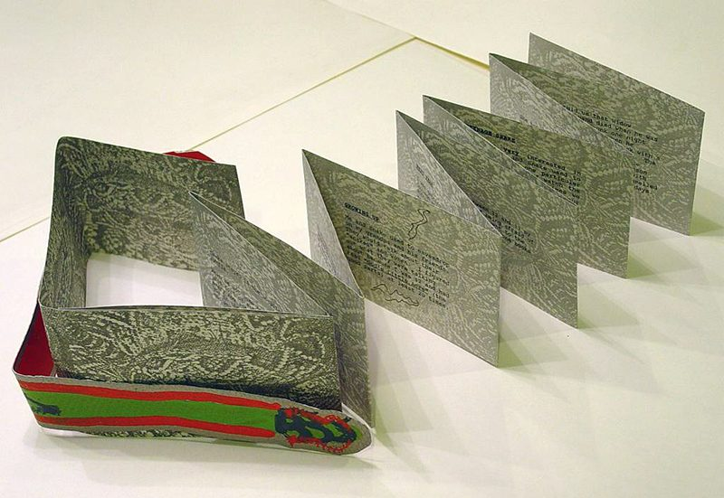 Sandra Rowe, Snake, 1991. Bucknell University: Artists' Books Collection