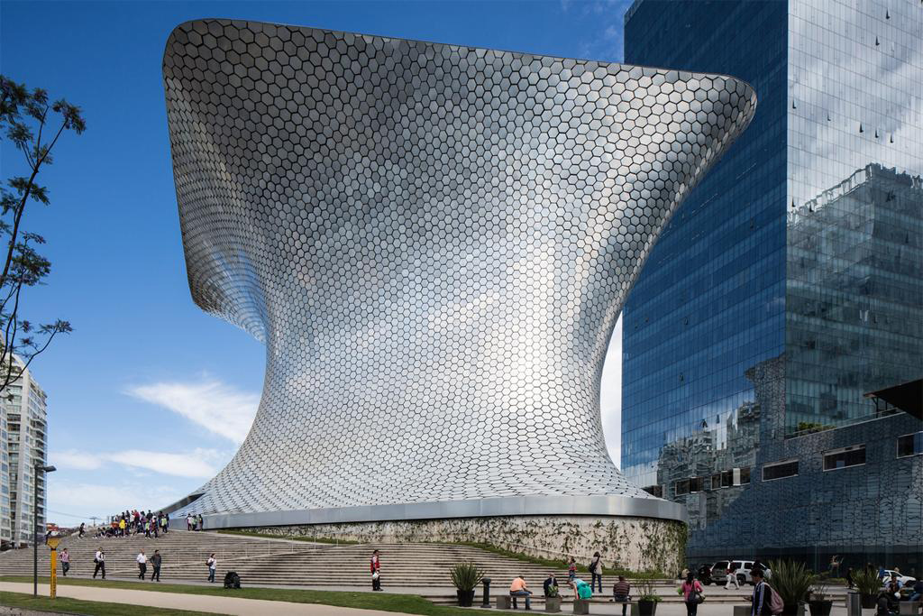 Fernando Romero, Soumaya Museum; overview, 2011, Mexico City, Mexico. Image and original data provided by Art on File; artonfile.com