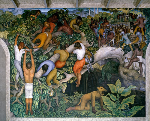 Diego Rivera, Cruzando La Barranca/Crossing the Barranca, 1929-1930; Photo: Bob Schalkwijk © 2012 Artists Rights Society (ARS), INBA