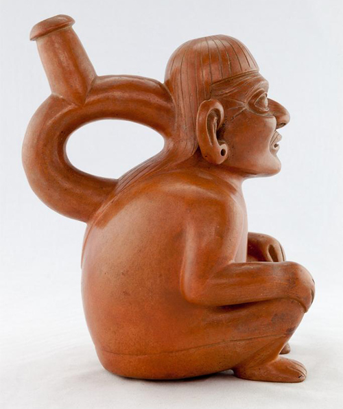 unknown (Moche), Vessel (left view), 100-800 C.E., Peru, north coast. Fowler Museum (University of California, Los Angeles)