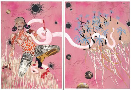 Wangechi Mutu, Yo Mama, 2003. Courtesy of the artist and Susanne Vielmetter Los Angeles Projects