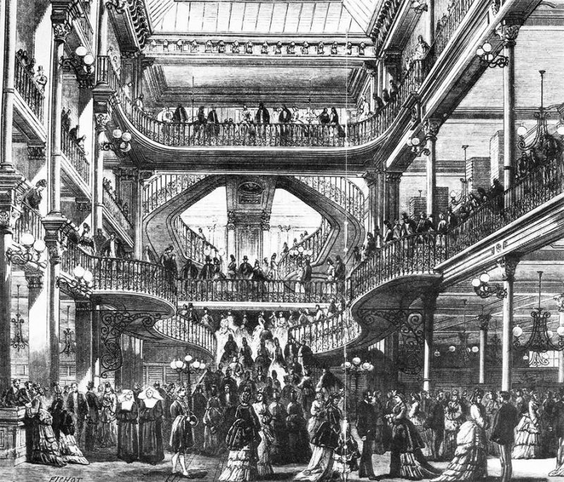 Gustave Eiffel; Louis Auguste Boileau, Le Bon Marché, 1876. Image and catalog data provided by Allan T. Kohl, Minneapolis College of Art and Design