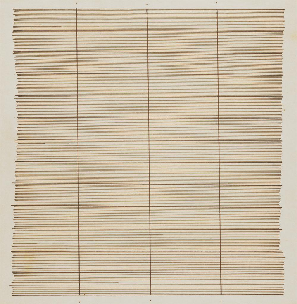 Agnes Bernice Martin, Waters, 1962. Seattle Art Museum; seattleartmuseum.org. © 2008 Agnes Martin / Artists Rights Society (ARS), New York
