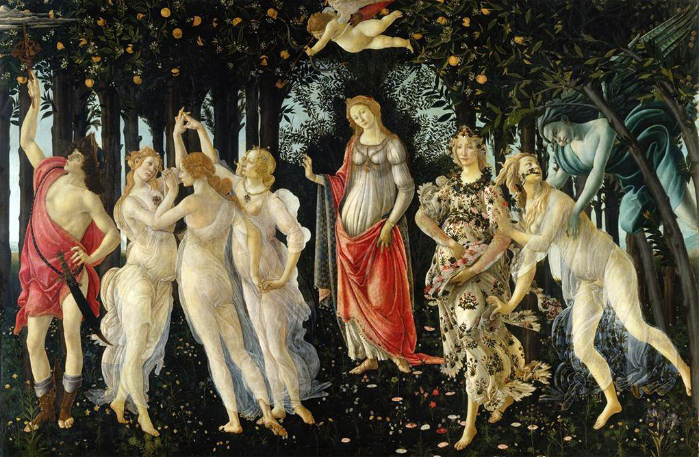 Sandro Botticelli, Primavera; Allegory of Spring, c. 1478, Galleria degli Uffizi. Image and original data provided by ©SCALA, Florence/ART RESOURCE, N.Y.; artres.com; scalarchives.com