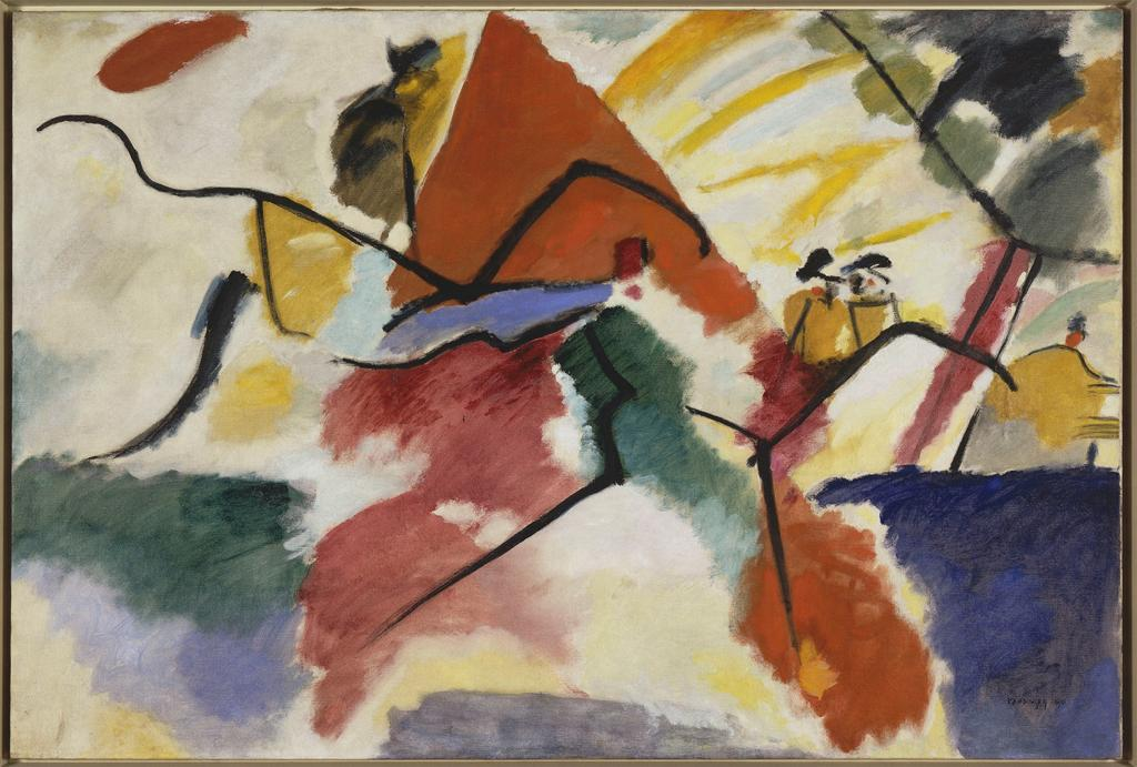 Vassily Kandinsky, Impression V (Park), 1911. Musée National d'Art Moderne, Centre Georges Pompidou, Paris, France. Image and original data provided by Réunion des Musées Nationaux / Art Resource, N.Y.; artres.com