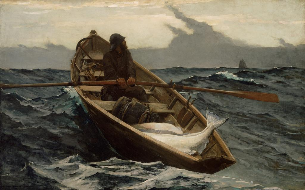 Winslow Homer, The Fog Warning, 1885. Image © Museum of Fine Arts, Boston