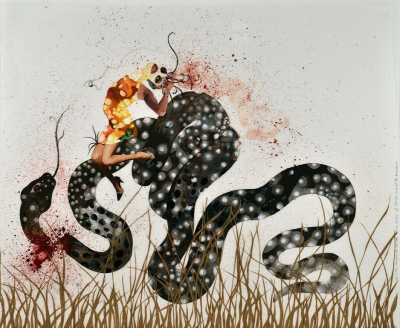 Wangechi Mutu, A Little Thought for All Ya'll Who're Thinking of Beating Around the Bush