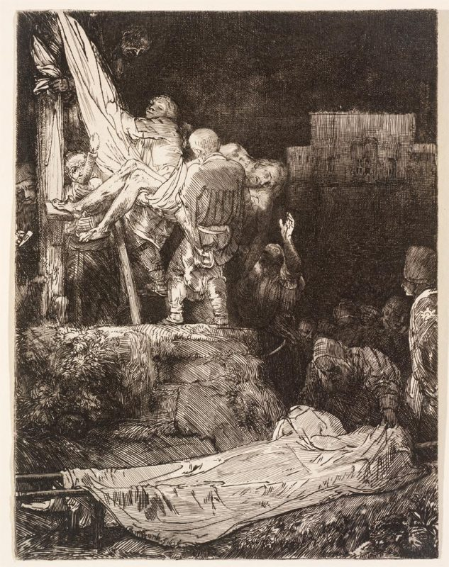 Rembrandt van Rijn, Descent from the Cross by Torchlight, 1654. Image © Museum of Art, Rhode Island School of Design, Providence