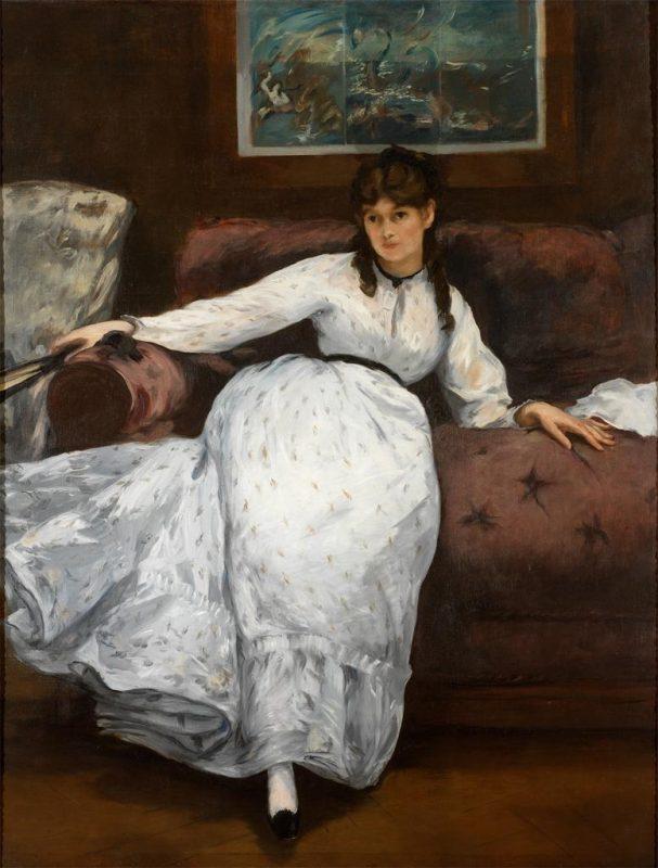 Édouard Manet; Le Repos (Repose), ca. 1870-1871. Image © Museum of Art, Rhode Island School of Design, Providence