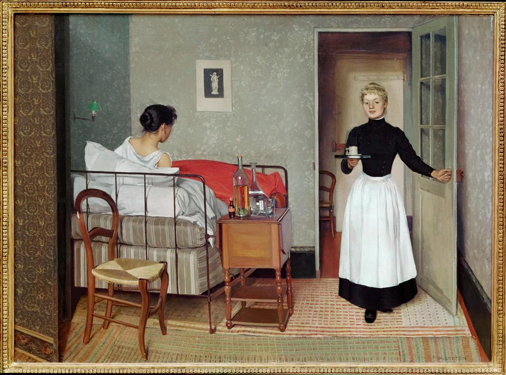 Félix Vallotton, The sick patient (Helene Chatenay), 1892. Image and original data provided by Erich Lessing Culture and Fine Arts Archives/ART RESOURCE, N.Y. artres.com