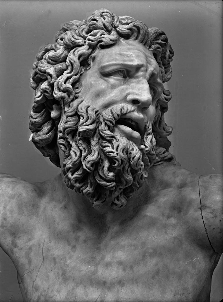 Head of Laocoon, c. 100. Foto Reali Archive, National Gallery of Art, Department of Image Collections.
