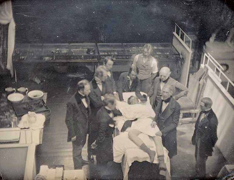 Southworth & Hawes, Early Operation Using Ether for Anesthesia, late spring 1847. Image and original data provided by The J. Paul Getty Museum
