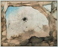 Victor Hugo, Vianden Seen through a Spider Web