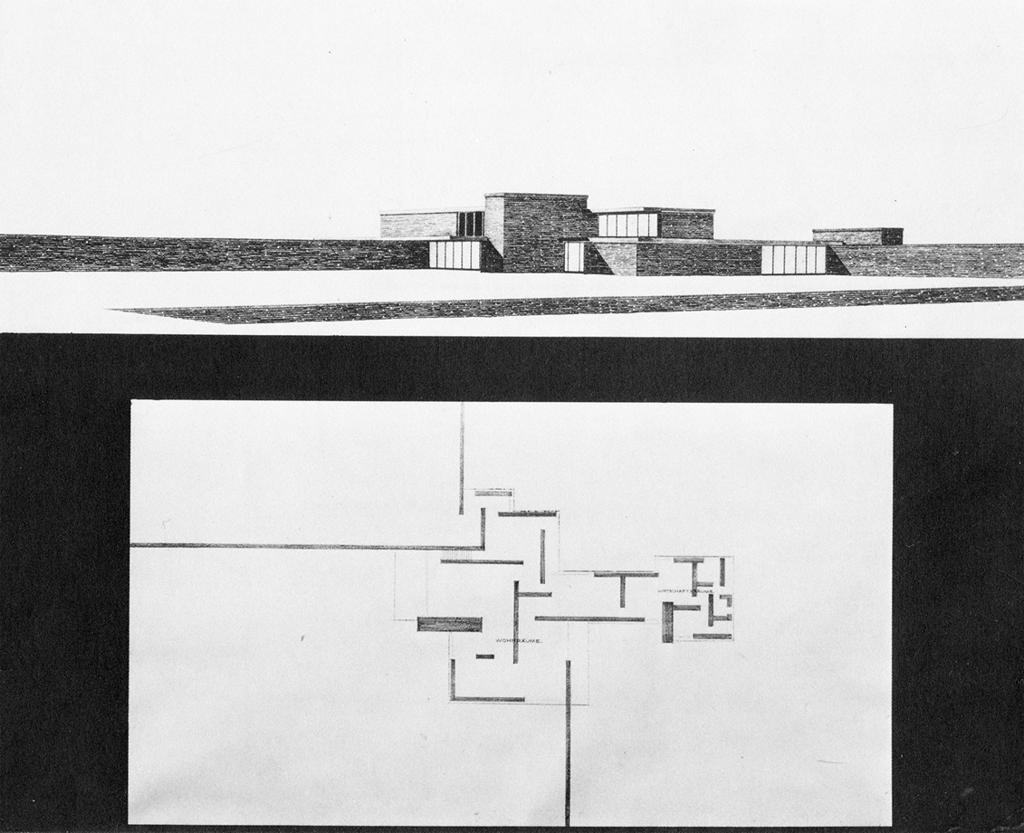 Ludwig Mies Van der Rohe, Brick Country House (unbuilt), 1924