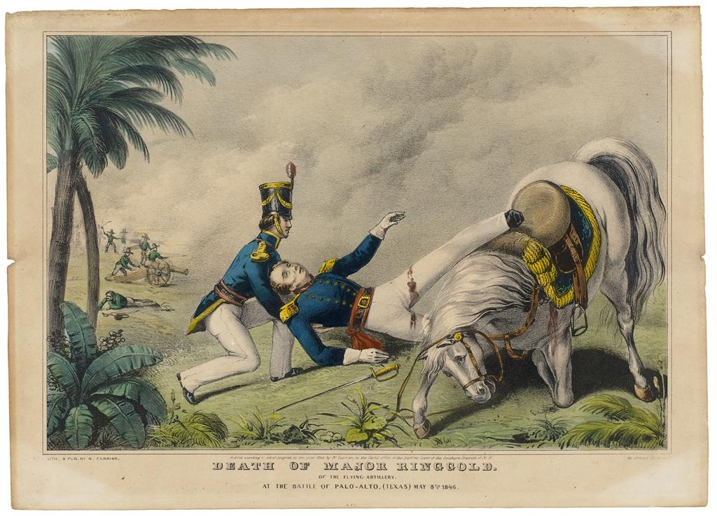 Nathaniel Currier, Death of Major Ringgold, 1846. Photograph © The Museum of Fine Arts, Houston