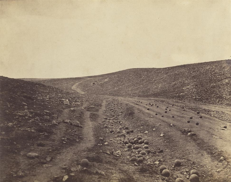 Roger Fenton, Valley of the Shadow of Death, April 23, 1855. Image and original data provided by The J. Paul Getty Museum www.getty.edu