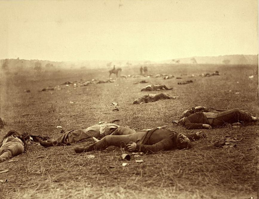 Timothy H. O'Sullivan, A Harvest of Death, Gettysburg, Pennsylvania, July, 1863. Image courtesy of George Eastman House www.eastmanhouse.org