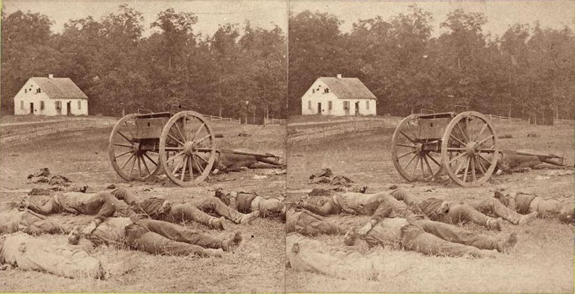 Alexander Gardner, Completely Silenced! (Dead Confederate Soldiers at Antietam), 1862. Image courtesy of George Eastman House www.eastmanhouse.org