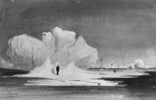 James Hamilton, Arctic scene, after Dr. EK Kane, an ice floe in the Polar Sea, 19th Century