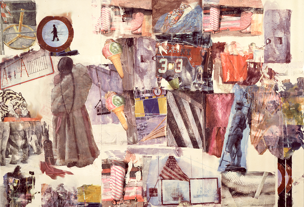 Robert Rauschenberg, Captiva, Florida, Port of Entry [Anagram (A Pun)], 1998. Image and data from SFMOMA. © Estate of Robert Rauschenberg / Licensed by VAGA, New York, NY. This work of art is protected by copyright and/or related rights and may not be reproduced in any manner, except as permitted under the Artstor Digital Library Terms and Conditions of Use, without the prior express written authorization of VAGA, 350 Fifth Avenue, Suite 2820, New York, NY 10118. Tel.: 212-736-6666; Fax: 212-736-6767; Email: info@vagarights.com.