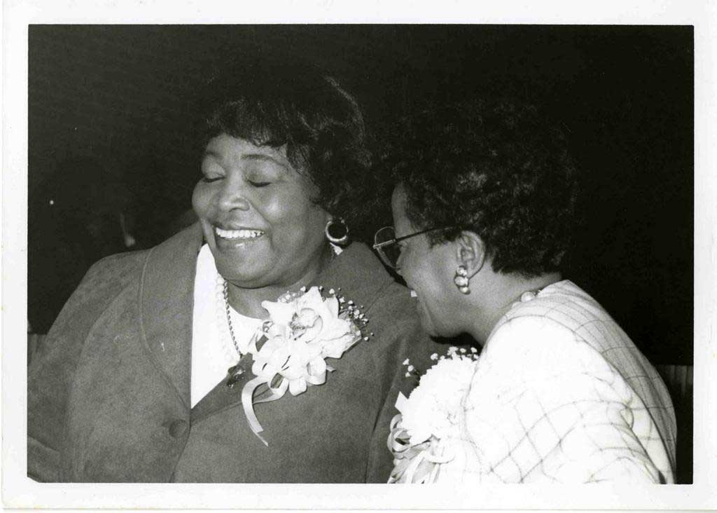 Betty Shabazz and Margie Johnson. Courtesy of the Tuskegee University Archives, P.H. Polk Collection, 2017.