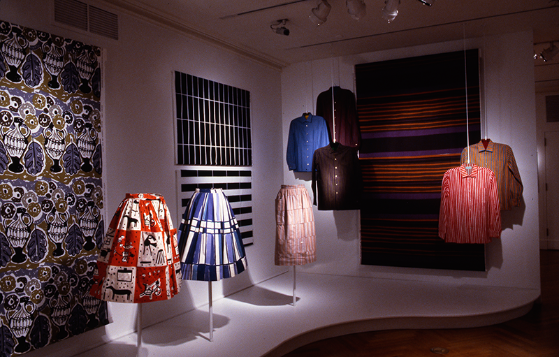 Marimekko: Fabrics, Fashion, Architecture, Installation view; 2003-2004. Image and original data contributed by Bard Graduate Center Gallery