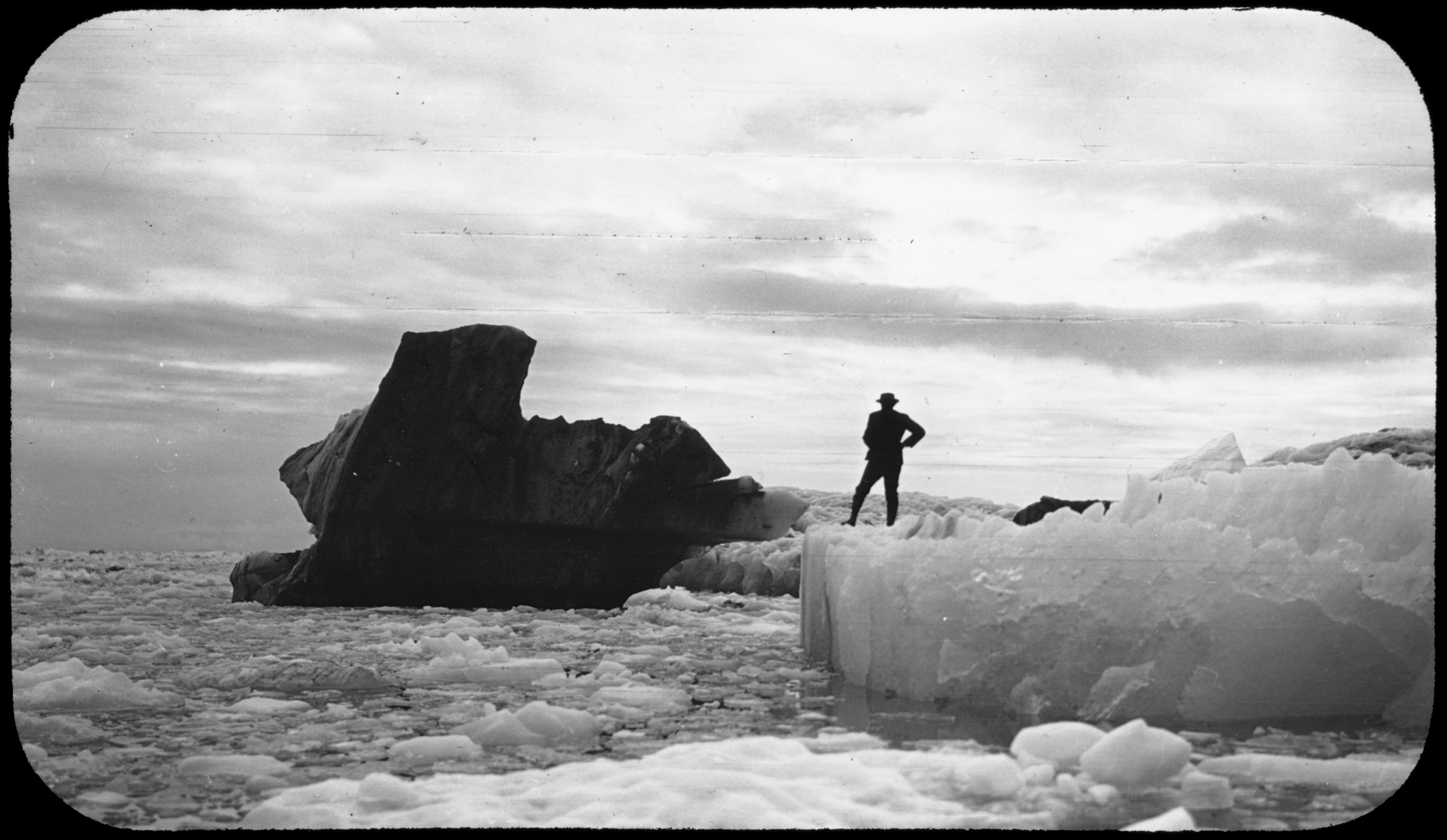 Black iceberg. 1909. Image provided by Cornell University.