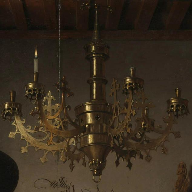 Arnolfini Portrait - chandelier