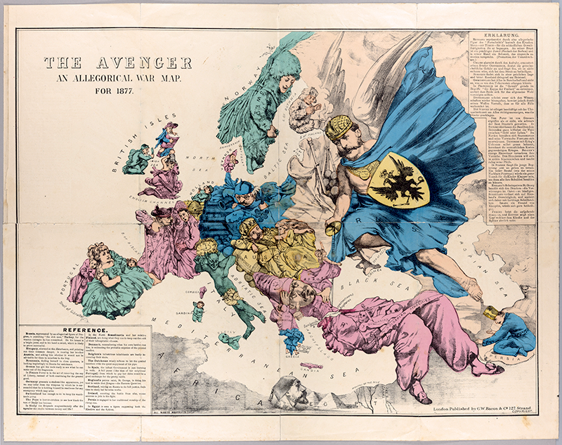 The Avenger: An Allegorical War Map for 1877. 1877. Persuasive Maps: PJ Mode Collection