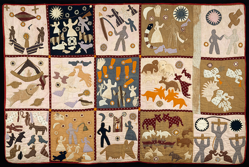 Harriet Powers. Pictorial quilt. 1895-98. Museum of Fine Arts, Boston