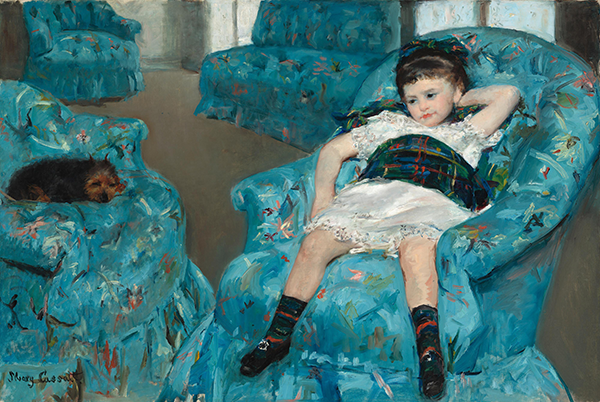 Mary Cassatt. Little Girl in a Blue Armchair. 1878. The National Gallery of Art