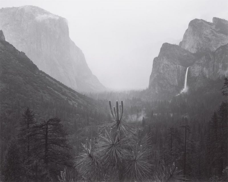 Ansel Adams. Yosemite Valley, Rain and Mist, Yosemite National Park, California. 1940. Image and original data provided by Center for Creative Photography. ©The Ansel Adams Publishing Rights Trust.