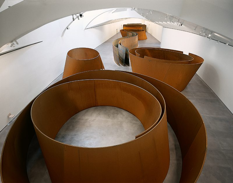 Richard Serra. The Matter of Time. 2005. Installation of seven sculptures, weatherproof steel. © 2014 Richard Serra / Artists Rights Society (ARS), New York. © The Solomon R. Guggenheim Foundation, New York.